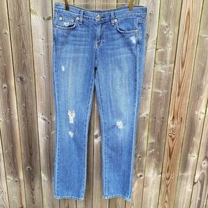 J Crew Vintage Matchstick Jeans ripped destroyed